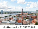 riga is the capital and largest ... | Shutterstock . vector #1183198543
