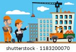 illustration of construction... | Shutterstock .eps vector #1183200070