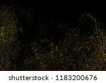gold glitter texture isolated... | Shutterstock .eps vector #1183200676