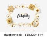 christmas bright background...   Shutterstock .eps vector #1183204549