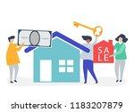 character illustration of... | Shutterstock .eps vector #1183207879