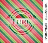 turk christmas style emblem. | Shutterstock .eps vector #1183208206