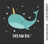 background  whale are unicorn ... | Shutterstock .eps vector #1183208869