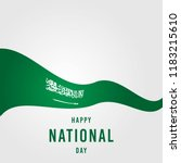 saudi arabia independence day... | Shutterstock .eps vector #1183215610