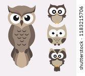 owl cute in vector   Shutterstock .eps vector #1183215706
