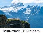sky cliff walk on first peak of ... | Shutterstock . vector #1183216576