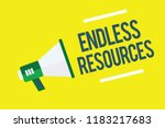 writing note showing endless... | Shutterstock . vector #1183217683