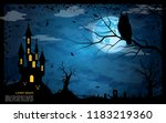 halloween scary night vector... | Shutterstock .eps vector #1183219360