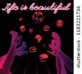 life is beautiful. vector... | Shutterstock .eps vector #1183221736