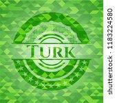 turk green emblem with mosaic... | Shutterstock .eps vector #1183224580