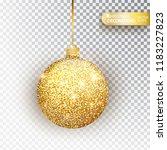 golden glitter christmas bauble ... | Shutterstock .eps vector #1183227823