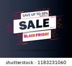 black friday sale inscription... | Shutterstock .eps vector #1183231060