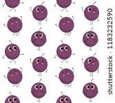 passion fruit  vector seamless... | Shutterstock .eps vector #1183232590