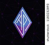 ap initial letter block chain... | Shutterstock .eps vector #1183232893