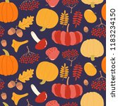 seamless repeat pattern with... | Shutterstock .eps vector #1183234150