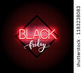black firday sale neon text and ...   Shutterstock .eps vector #1183238083