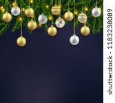 christmas holiday background...   Shutterstock .eps vector #1183238089