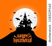 happy halloween design element... | Shutterstock .eps vector #1183239163