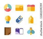 paper vector icons set. folder  ... | Shutterstock .eps vector #1183239259