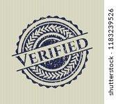 blue verified distress rubber... | Shutterstock .eps vector #1183239526