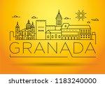 minimal granada city linear... | Shutterstock .eps vector #1183240000