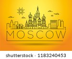 minimal moscow city linear... | Shutterstock .eps vector #1183240453