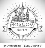 minimal moscow city linear... | Shutterstock .eps vector #1183240459