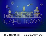 minimal cape town city linear... | Shutterstock .eps vector #1183240480