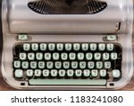 vintage manual typewriter | Shutterstock . vector #1183241080