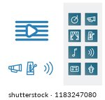 sound icon set and bullhorn...