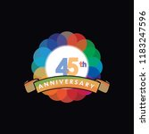 forty five anniversary logo... | Shutterstock .eps vector #1183247596