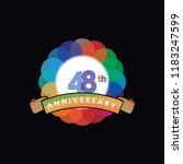 forty eight anniversary logo... | Shutterstock .eps vector #1183247599