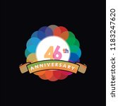 forty six anniversary logo... | Shutterstock .eps vector #1183247620