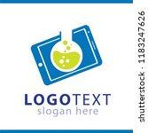 mobile phone lab logo | Shutterstock .eps vector #1183247626