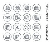 photography line icons set on... | Shutterstock .eps vector #1183249183
