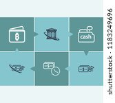 bank transaction icon set and...