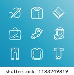 clothes icon set and towel with ...