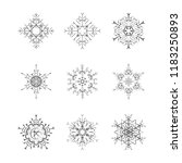 set of snowflake for the new...   Shutterstock .eps vector #1183250893