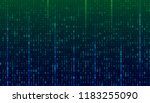a stream of binary matrix code... | Shutterstock .eps vector #1183255090