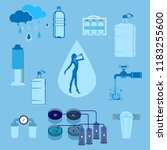 water purification set of... | Shutterstock .eps vector #1183255600
