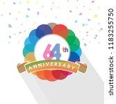 sixty four anniversary logo... | Shutterstock .eps vector #1183255750