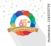 sixty five anniversary logo... | Shutterstock .eps vector #1183255753