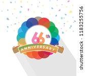 sixty six anniversary logo... | Shutterstock .eps vector #1183255756