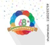 sixty eight anniversary logo... | Shutterstock .eps vector #1183255759