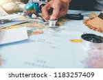 doctor's medical stethoscope... | Shutterstock . vector #1183257409