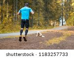 man running in the park | Shutterstock . vector #1183257733