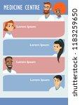 vector medicine brochure cards .... | Shutterstock .eps vector #1183259650