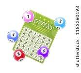 lottery tickets  bingo  lotto ... | Shutterstock .eps vector #1183260193