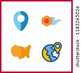 4 geography icon. vector... | Shutterstock .eps vector #1183265026