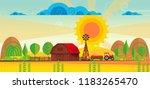 abstract vector countryside... | Shutterstock .eps vector #1183265470